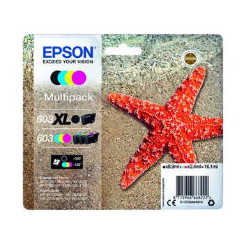 Genuine Epson Starfish 603XL BCMY Multipack