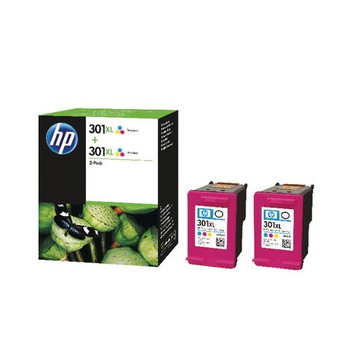Genuine HP 301XL Colour Inkjet Cartridge Twin Pack D8J46AE