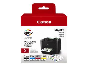 Genuine Canon PGI-2500XL Inkjet Cartridge Multipack