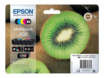 Genuine Epson 202 Inkjet Cartridge Multipack (5)