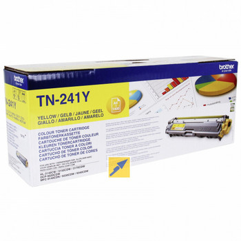 Genuine Brother TN241Y Yellow Toner Cartridge
