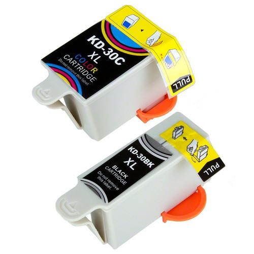 Compatible Kodak 30XLB/30XLC Ink Cartridge Combo Pack