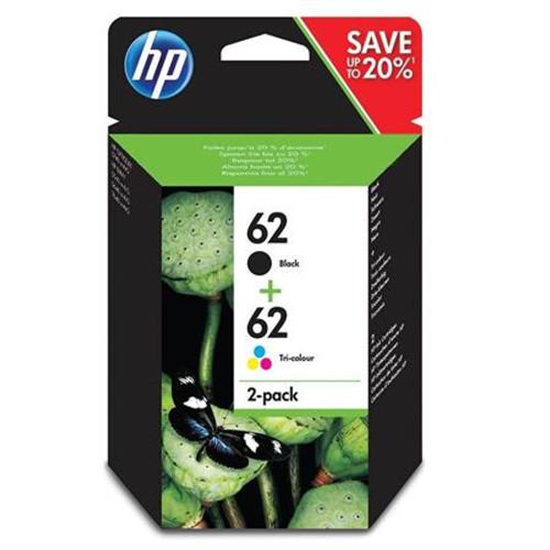 Genuine HP 62 Black/Colour Ink Cartridges