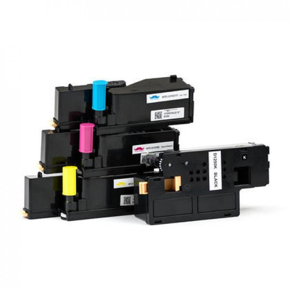 Compatible Dell 1250C Toner Cartridge Value Pack BCMY