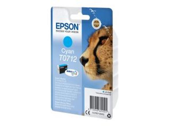 Genuine Epson T0712 Cyan Inkjet Cartridge (Cheetah)