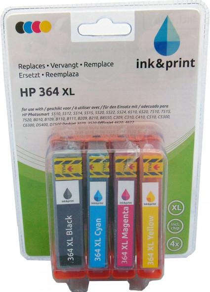 Compatible HP 364XL Inkjet Cartridge Value Pack