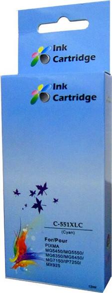 Compatible Canon CLI-551XL Cyan Inkjet Cartridge