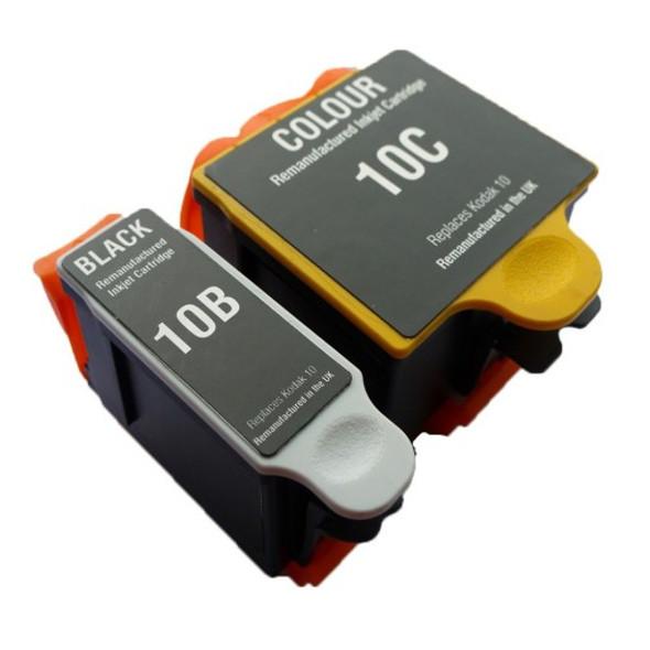 Compatible Kodak 10B/10C Ink Cartridge Combo Pack