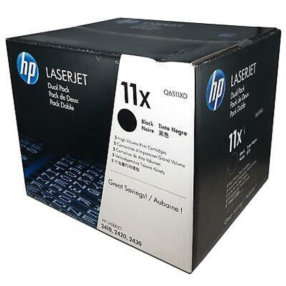 Genuine HP 11X Black Toner Cartridge Q6511XD