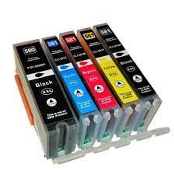 Compatible Canon PGI-580/CLI-581 XXL 5 Cartridge Multipack