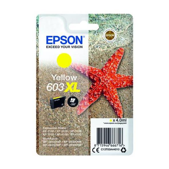 Genuine Epson Starfish 603XL Yellow Ink Cartridge