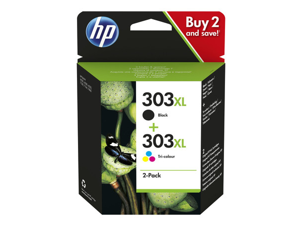 Genuine HP 303XL Black & Colour Combo Pack