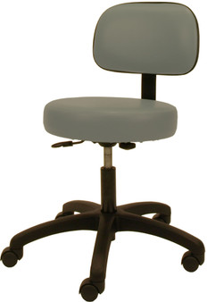 Winco Deluxe Gas Lift Stool with Back