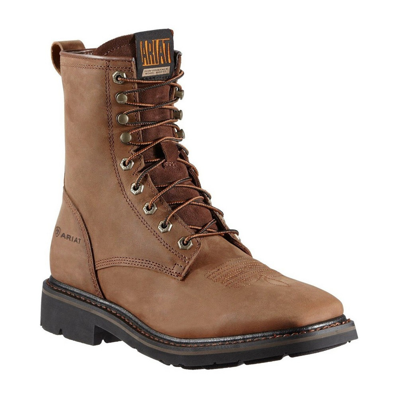 Men's Cascade Square Toe Lace Up Work Boots