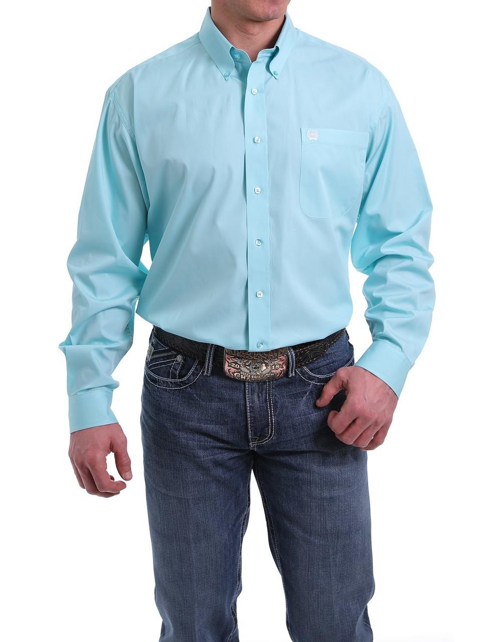 S Solid Light Blue Button Shirt 3XL