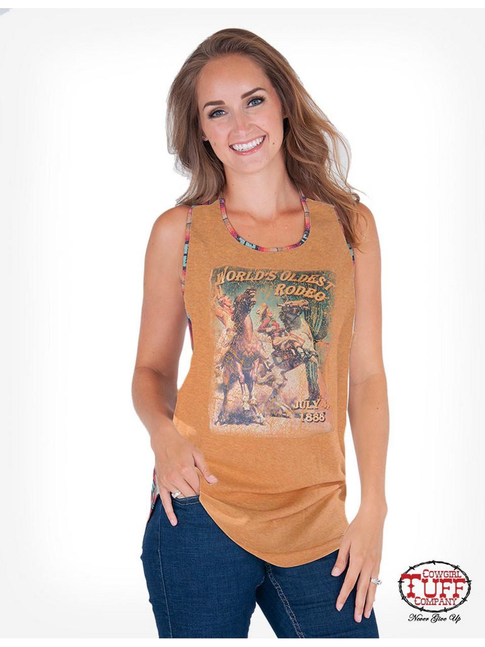 Cowgirl Tuff® Ladies' Gold World's