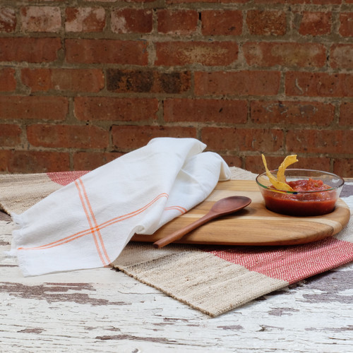 Orange Striped Woven Napkin