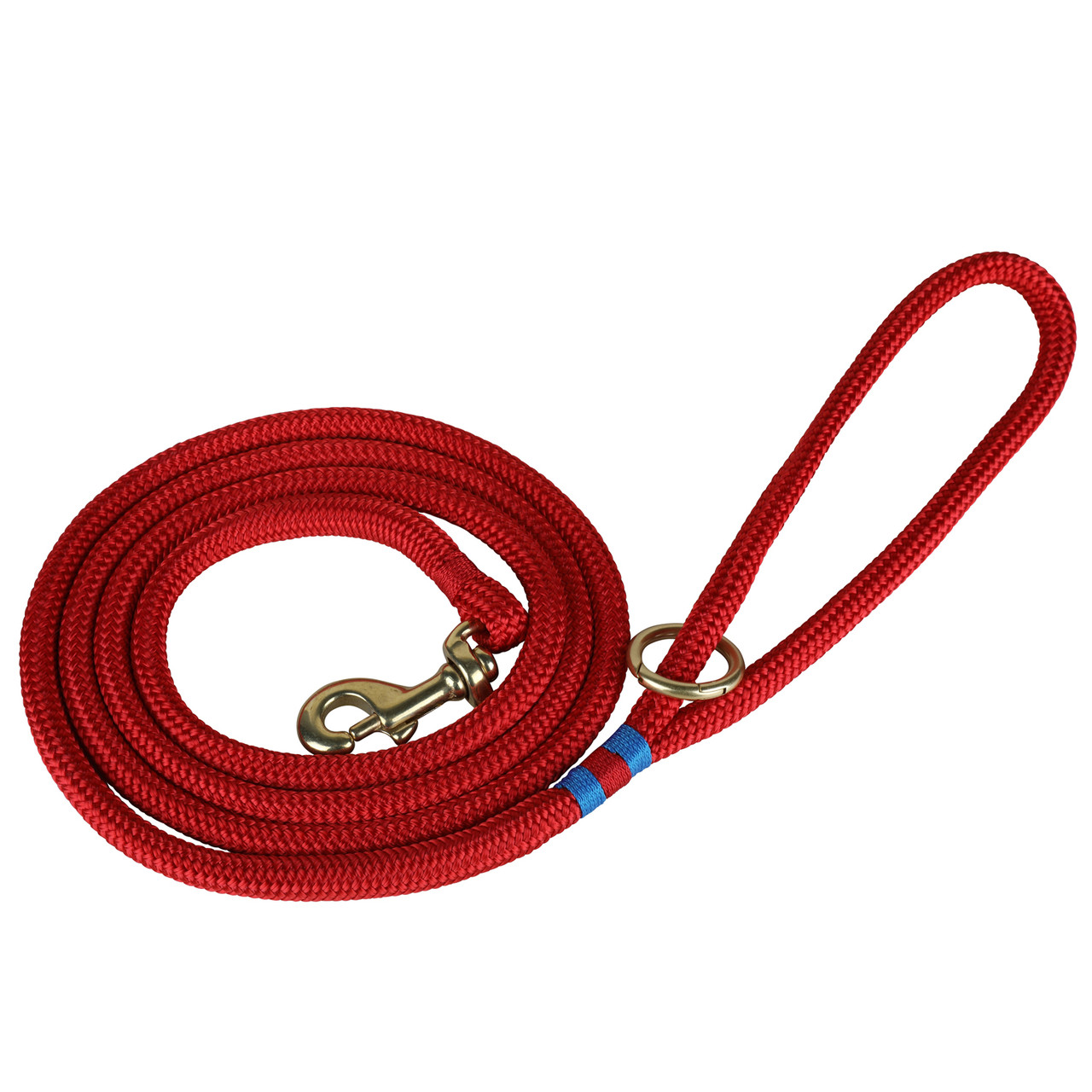 Red Rope Dog Lead Belted Cow Company