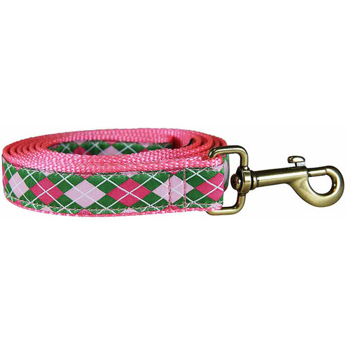 Argyle Lead (green & pink) Product Image