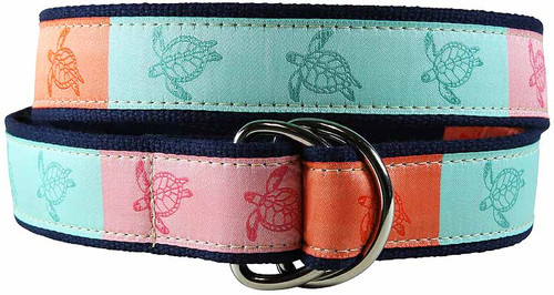 Sea Turtle D-ring Belt