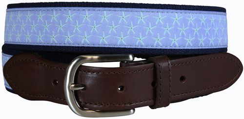 Starfish Leather Tab (periwinkle) Product Image