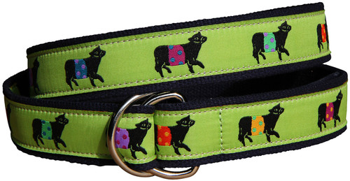Beltie (lime) D-ring Belt
