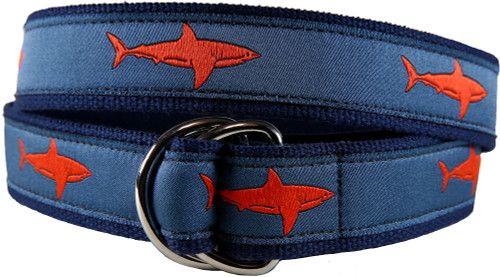 Shark (Blood Orange) D-ring Belt