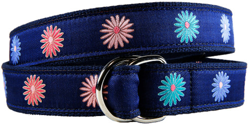 Classic Flower D-ring Belt