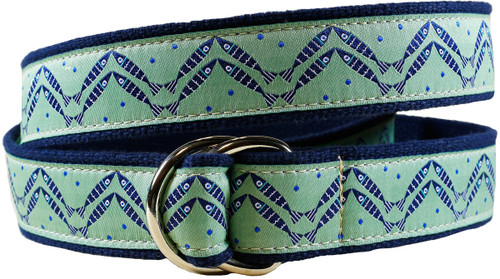 Herring Bone Fish D-ring Belt