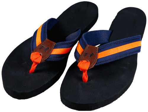 Classic Orange Stripe Flip Flops