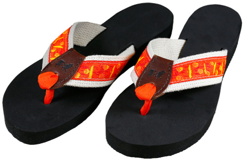 Orange Flip Flops