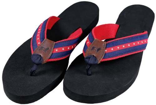 Patriotic Stripe Flip Flops