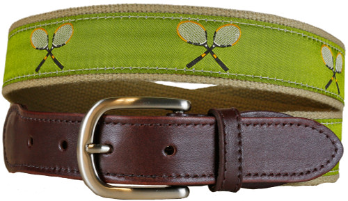 Vintage Tennis Leather Tab Belt