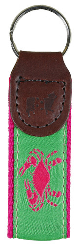 Crab (Pink & Green) Key Fob
