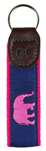 Pink Elephant Key Fob