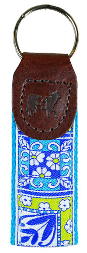 Damariscotta Pottery Tiles Key Fob