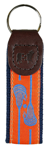 Orange Lacrosse Key Fob