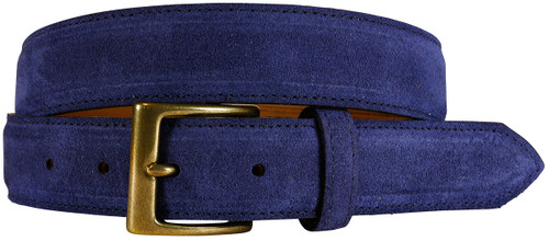 East Hampton Collection Navy Suede Belt