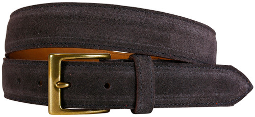 East Hampton Collection Chocolate Suede Belt
