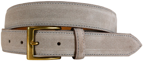 East Hampton Collection Grey Suede Belt