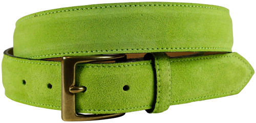 Suede Belt (Lime)
