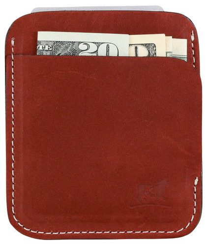 Portland Wallet in Cherry Nubuck Leather