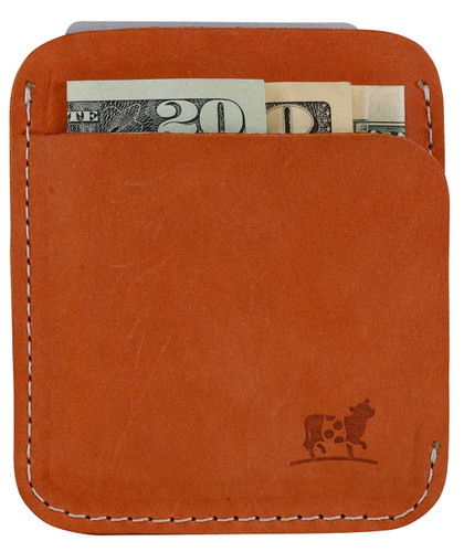 Portland Wallet in Persimmon Nubuck Leather