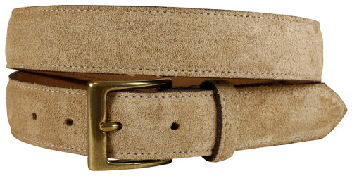 East Hampton Khaki Suede Belt