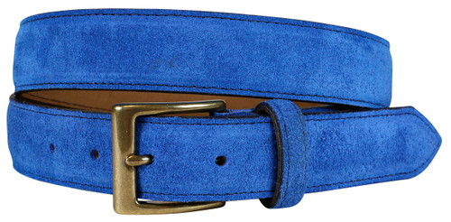 East Hampton Regatta Blue Suede Belt