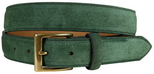 East Hampton Hunter Green Suede Belt