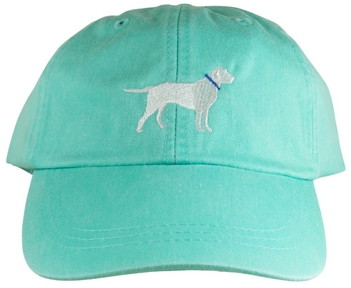 Embroidered Dog Hat on Sea Foam