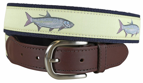 Tarpon (butter) Leather Tab Belt