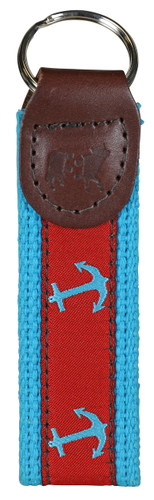 Anchor (red & turquoise) Key Fob