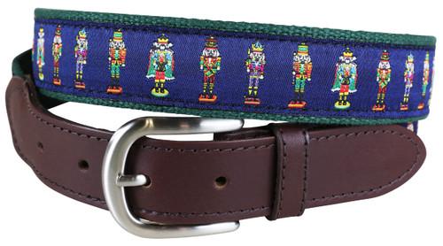 Nutcracker Leather Tab Belt